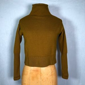 Wilfred Aritzia Turtle Neck wool cropped sweater